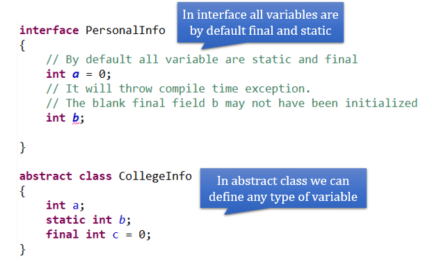 when to use abstract class and interface in java with real time example