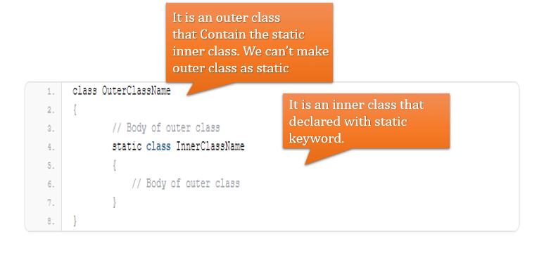 static class in java