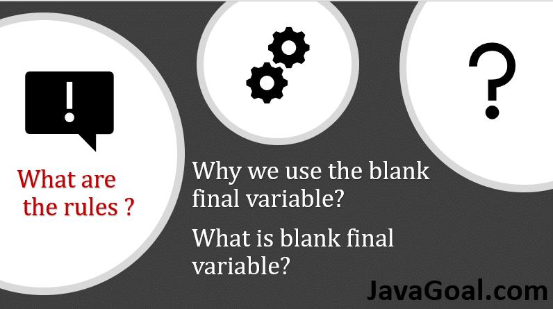 blank final variable in java