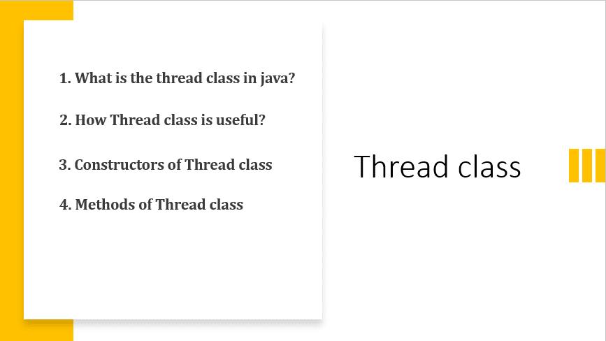 Thread class in java