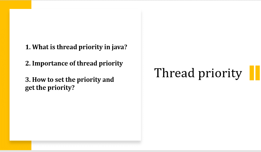 Thread priority in java