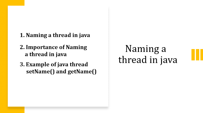 Naming a thread in java