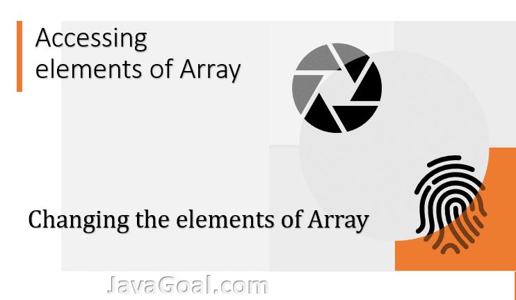 accessing array elements