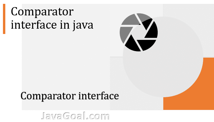 comparator interface in java