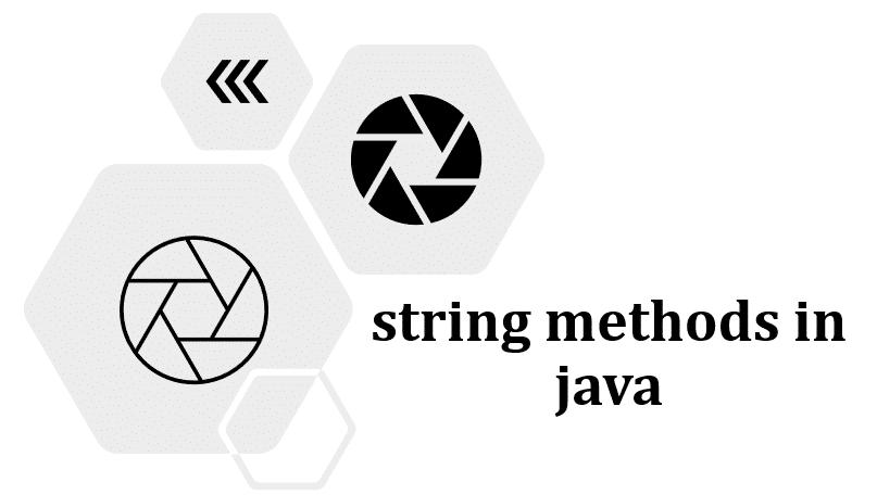string methods in java