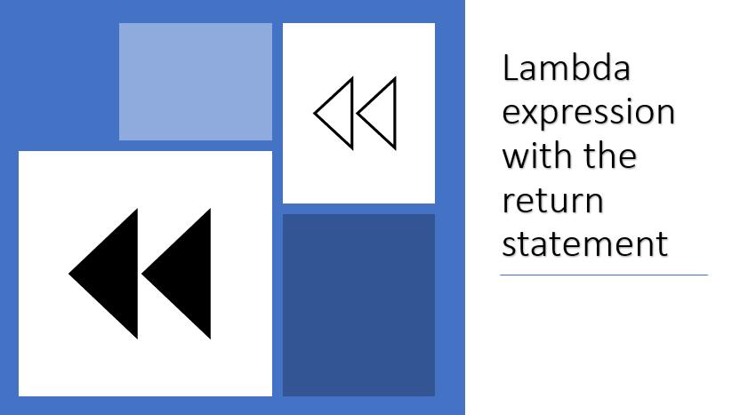 return type of lambda expression