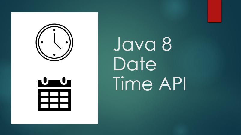 date and time java 8 API