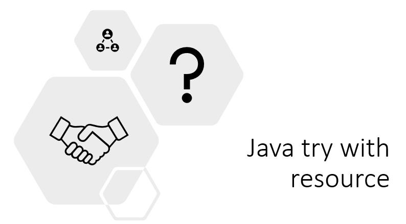 Java try with resource