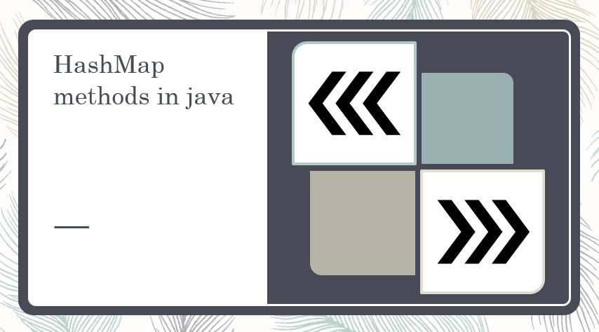 HashMap method in java